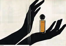 PUBLICITE ADVERTISING 014   1972   ROCHAS  parfum AUDACE  ( 2 pages)