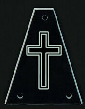 GUITAR TRUSS ROD COVER - Custom Engraved - Fits JACKSON - CROSS - Black