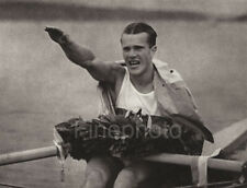 1936 Germany OLYMPICS SCULLING Rowing Gustav Schafer Photo Art, LENI RIEFENSTAHL