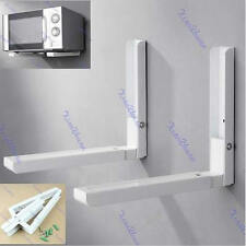 Foldable Stretch Shelf Rack For Microwave Oven Wall Mount Bracket New White
