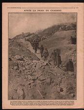 WWI Poilus Plateau de Craonne/ Battle Yprès Belgium Etreillers 1917 ILLUSTRATION