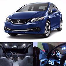 LED White Lights Interior License Package Kit For Honda Civic 2002-2015 -13 LEDs