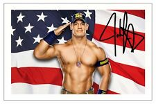 JOHN CENA WWE WRESTLING SIGNED PHOTO PRINT AUTOGRAPH