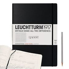 LEUCHTTURM 1917 MASTER SLIM A4+ MUSICIANS BOOK - with staves
