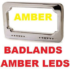 LED Turn Signal License Plate Sequential Amber Led's Badlands Harley Softail USA