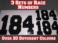 3 Sets Motocross MX Custom Race Number Vinyl Sticker Decals Trials Dirt Bike D1