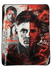 Supernatural Half Face Coral Fleece Throw Blanket Rare New With Tags!