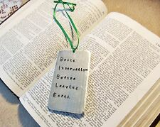 Personalized Hand Stamped Bookmark, Customized Bible Verse Christian Keepsake