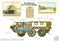 4X4/6X6  VAB Hot Vehicule de l'Avant Blindé France 2000 FICHE CHARS TANKS