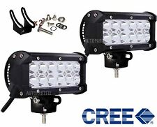 "2pcs 7"" 36W CREE LED WORK LIGHT BAR OFFROAD 4WD ATV JEEP FLOOD BEAM DRIVING LAMP"