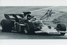 Emerson Fittipaldi Hand Signed John Player Team Lotus F1 12x8 Photo.