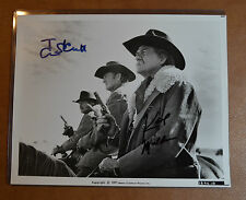 Tom Skerritt & Karl Malden Authentic Autographs 8x10 Still from Wild Rovers RARE