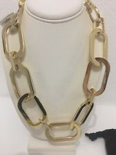 MICHAEL KORS Gold Tone Large Chain Toggle Statement Necklace $225