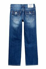 NWT $89 True Religion Size 14 Boys Straight Leg Jeans Blue Wash NEW AUTHENTIC