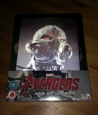 Marvel-Avengers :Age of Ultron 3D Lenticular Blu Ray Steelbook- New- Region Free