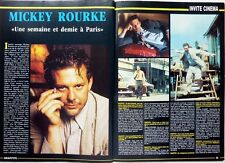 MICKEY ROURKE =   2 pages 1987 FRENCH CLIPPING // COUPURE DE PRESSE