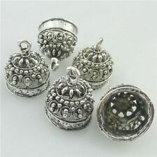 18222 10PCS Tibetan Silver 18.5mm Bell Shape Beads Cap End Pendant For Tassels