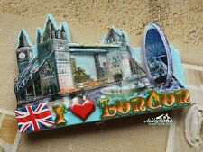 United Kingdom London Eye Tower Bridge Travel Souvenir Resin Fridge Magnet
