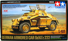 Tamiya 89777 German Armored Car Sd.Kfz.222 1/48 scale Limited Edition kit Sealed