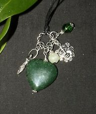 The Heart of the Greenwood Charm Pendant - Goddess, Greenman Pagan, Witchcraft