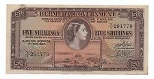 BERMUDA 5 SHILLINGS 1957 PICK 18 B LOOK SCANS