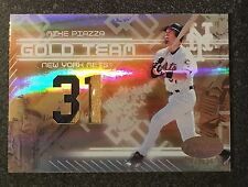 2005 LEAF CERTIFIED MIKE PIAZZA #GT-19 13/25 GAME USED WORN JERSEY PATCH GOLD