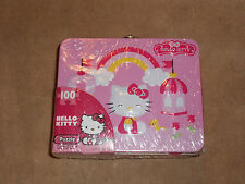NEW, HELLO KITTY 100 PIECE PUZZLE & TIN LUNCH BOX SET