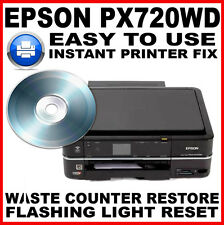 Epson Stylus Photo PX720WD Printer: Service Required Fault Reset Fault Fix Disc