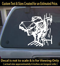 Bow hunter in treestand, 6 inch decal,car laptop Hunting archery vinyl sticker
