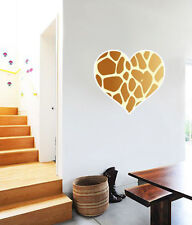 "Giraffe Animal Print Heart Wall Decal Large Vinyl Sticker 24"" x 22"""