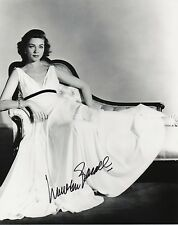 LAUREN BACALL Signed 10x8 Photo MURDER ON THE ORIENT EXPRESS & KEY LARGO COA