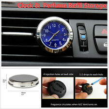 1pcs Car Interior Quartz Clock A/C Vent Clip Perfume Refill Storage + Backlight