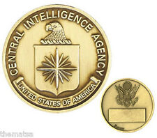 CIA CENTRAL INTELLIGENCE AGENCY ENGRAVABLE BRONZE  CHALLENGE COIN