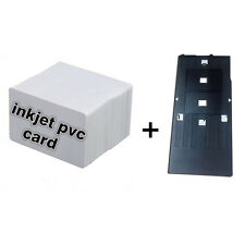Inkjet PVC Card Kit-10 Inkjet ID Card+1 Card Tray for Epson R300 Printer
