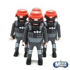 playmobil® Polizei | SEK: 4 x Figuren mit Maske | Brustpanzer | Pistolenhalfter