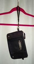 JUICY COUTURE Wristlet Clutch Purse 100% Goat Leather Passport Traveling Wallet