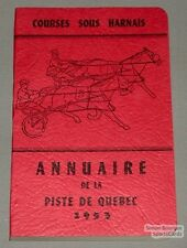 Original 1953 Quebec Horse Racing Red Guide