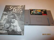 SUPER NINTENDO snes GAME SCOOBY DOO  CARTRIDGE AND BOOK ONLY