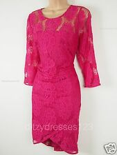 BNWT Coleen Lace Bodycon Wiggle Dress Size 12 Stretch RRP £62