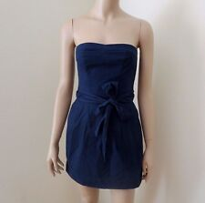 NWT Abercrombie Womens Mini Dress Size XS Strapless Navy Blue Bow