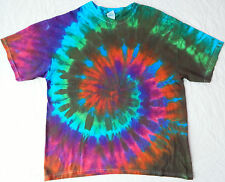 Homemade Tie Dye Short Sleeve T Shirt - Mens XL Rainbow Multi-Color Psychedelic