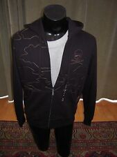Marc Ecko Hoodie Medium M Black Skull Crown Bullets Fresh Rare Warm Soft NWT $88