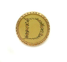 Maximal Art Pin Initial D Round Gold John Wind Vintage Fashion Jewelry