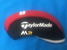 TaylorMade M2  Neoprene Golf Iron Head Covers 10pc Set M2 Red/Black *USA SELLER*