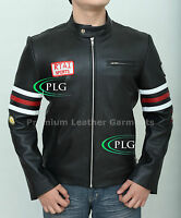 HUGH LAURIE HOUSE, M.D. GREGORY MENS BIKER MOTORCYCLE BLACK LEATHER JACKET