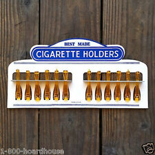 Vintage Original BEST MADE AMBER CIGARETTE DISPLAY Holders 1950s Dimestore NOS