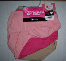 Bali Nylon Brief Womens Soft Seamless No Ride Up 3 Panties Size 6/7 Pink Nude