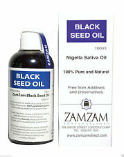 Zamzam Black Seed Oil Nigella Sativa 100% Pure Cold Pressed Kalonji Oil 100ml
