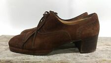 TANINO CRISCI Brown Italian Suede Womens Oxford US SHOES SIZE 7 D Vintage