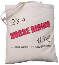 It's a HORSE RIDING thing - you wouldn't understand - Cotton Shoulder Bag